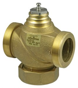 2-way valve with male thread, PN 16